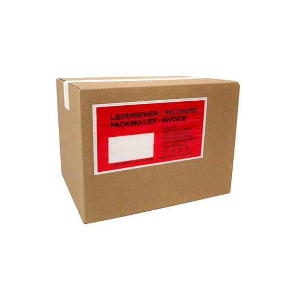 DIN Lang Farbe: GR/ÜN Bedruckt: Lieferschein//Rechnung 1 Karton = 1.000 St/ück PERGAMIN-PAPIER Lieferscheintaschen//Dokumententaschen